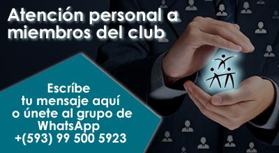 Atención personal a miembros del club